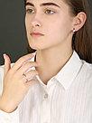 Кольцо TEOSA серебро с позолотой, фианит 20119-0607-CZ размеры - 16, фото 4