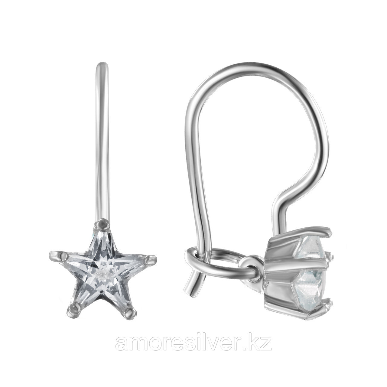 "Кольцо L-Silver серебро с родием, кварц розовый, , ""каратник"" с15-740"