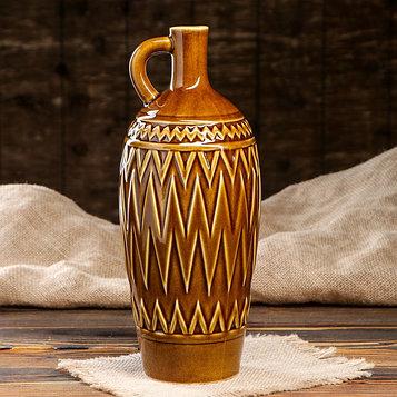 """Бутылка """"Грузия"""", глазурь, оливковый цвет, 1,5 л"""