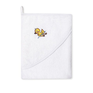Полотенце с капюшоном «Утя», размер 73 × 90 см, белый