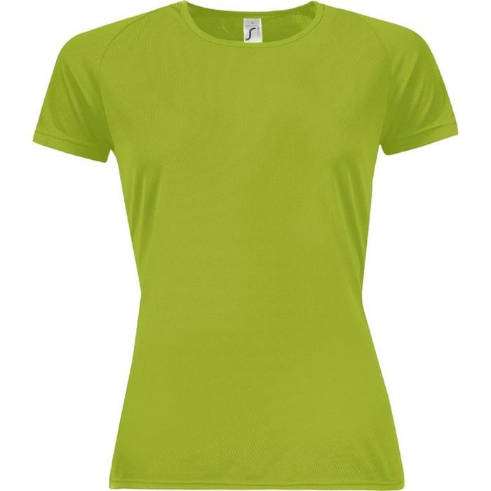 Футболка женская SPORTY WOMEN 140, размер S, цвет зелёное яблоко