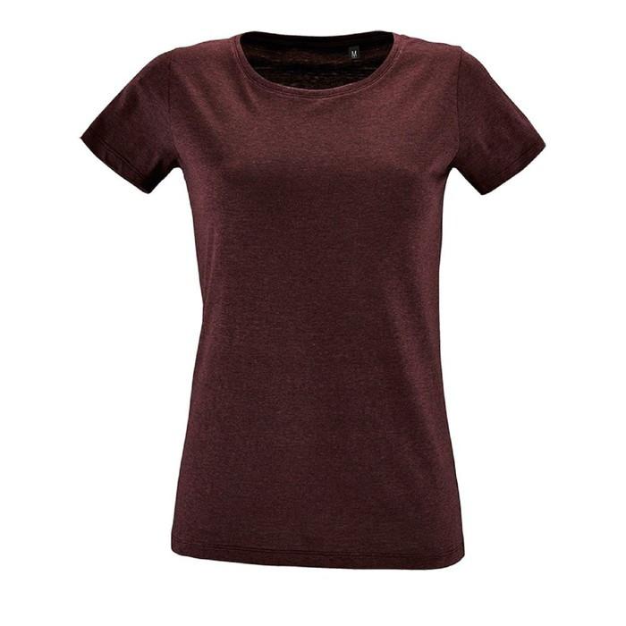 Футболка женская REGENT FIT WOMEN, размер L, цвет бордовый меланж