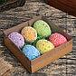 """Декор пасхальный """"Яйцо посыпка бабочки в травке"""" набор 6 шт яйцо 5х7 см, фото 3"""