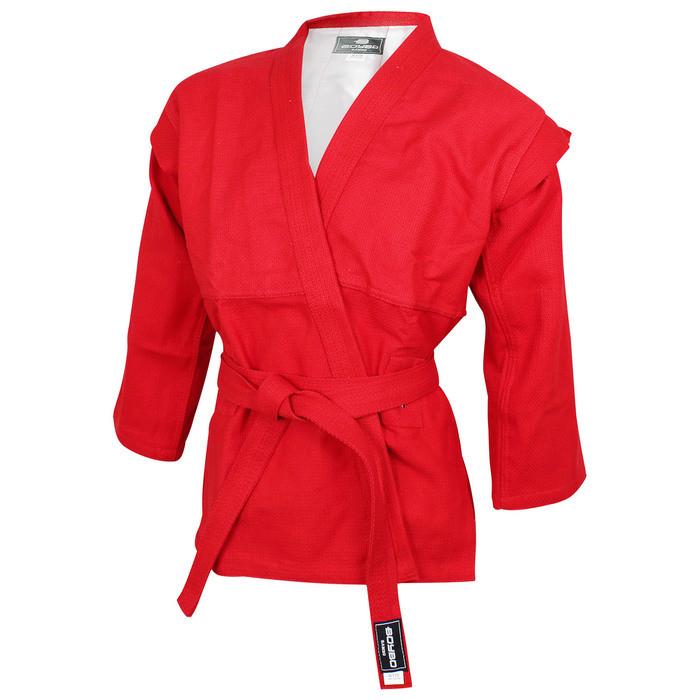 Куртка для самбо BoyBo, цвет красный, размер 6/190
