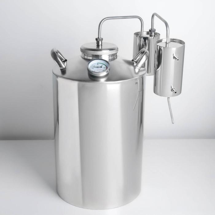 Дистиллятор, 25 л, горло 100 мм, термометр, клапан