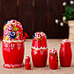 Матрёшка  «Катерина», красный сарафан , 5 кукольная, 10 см, фото 2