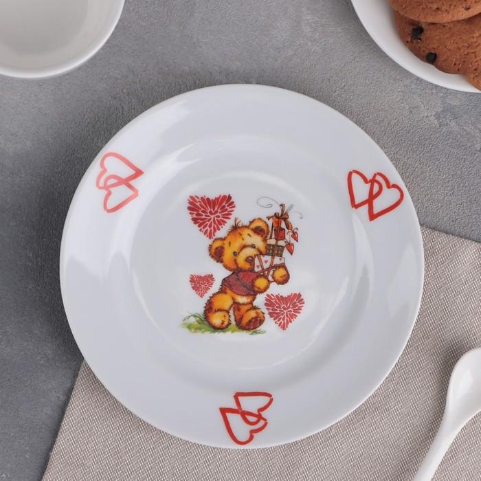 Тарелка мелкая Добрушский фарфоровый завод «Мишки», d=17 см