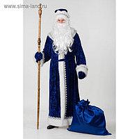 Карнавальный костюм «Дед Мороз», велюр тиснение, размер 54-56