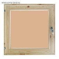 Окно, 70×70см, однокамерный стеклопакет, тонированное, с уплотнителем, из хвои