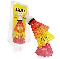 Волан пластиковый для бадминтона 3 шт Baizan GF-880