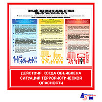 "Плакат ""Действия, когда объявлена ситуация террористической опасности"""
