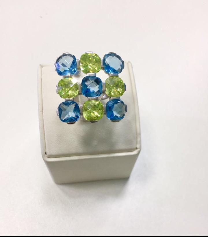 Кольцо с цирконом / серебро - 16,5 размер