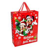 Пакет подарочный ламинированный 'С Новым Годом!', Микки Маус и его друзья, 31 х 40 х 11 см