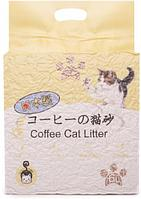 Наполнитель Hakase Arekkusu комкующийся кофе 6 л