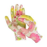 Перчатки нейлоновые, с нитриловым полуобливом, размер 8, цвет МИКС, Greengo