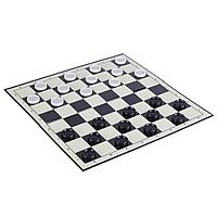 Шахматы, шашки 33*33 см пластик бумага 341-002 JWN-155