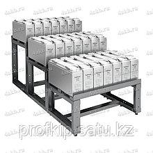 Трехрядный трехуровневый аккумуляторный стеллаж серии КРОН-АКС-123