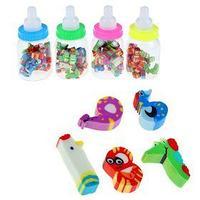 Набор фигурных ластиков, 20 штук, 'Фигурки в пластиковой бутылочке', МИКС