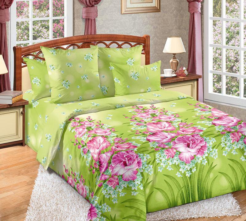ТексДизайн Комплект постельного белья  Утренний цветок  2 спальный евро, перкаль