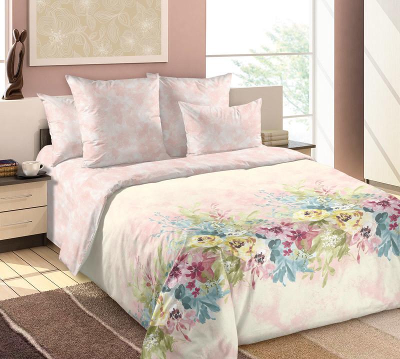 ТексДизайн Комплект постельного белья  Вечная весна  2 спальный евро, перкаль