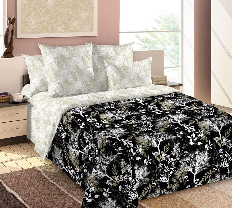 ТексДизайн Комплект постельного белья Сумерки ,   2 спальный евро, перкаль