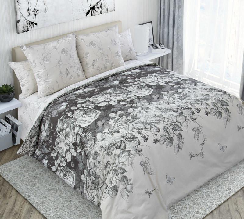 ТексДизайн Комплект постельного белья Тайна ,   2 спальный евро, перкаль