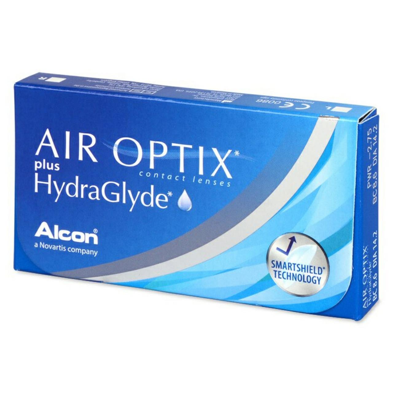 Контактные линзы +4,00 Air Optix plus HydraGlyde