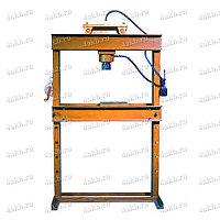 Пресс гаражный электрогидравлический с лебедкой и горизонтальным смещением цилиндра Р-342М4