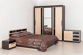 Эдем 2 - Комплект для спальни 2064, Шкаф-купе 3D, Дуб Венге/Дуб Млечный, СВ Мебель