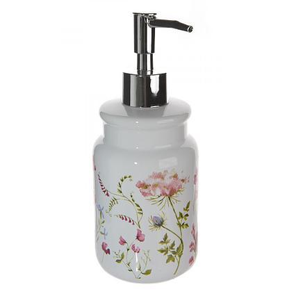 Дозатор для жидкого мыла Аквалиния Листок мятный CE2130DA-LD белый, CE2074AA-LD