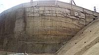 Усиление торкрет-бетоном гидротехнических сооружений, тоннелей, патерн