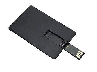 Флешка визитка черная 64 гб без нанесения. Бесплатная доставка по Казахстану.