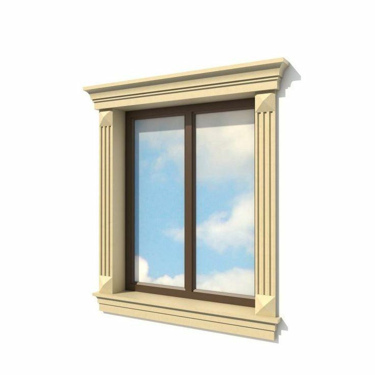 Декор для фасада армированный пенопласт обрамление окон карнизы колонны Пилястра угловые элементы - фото 3