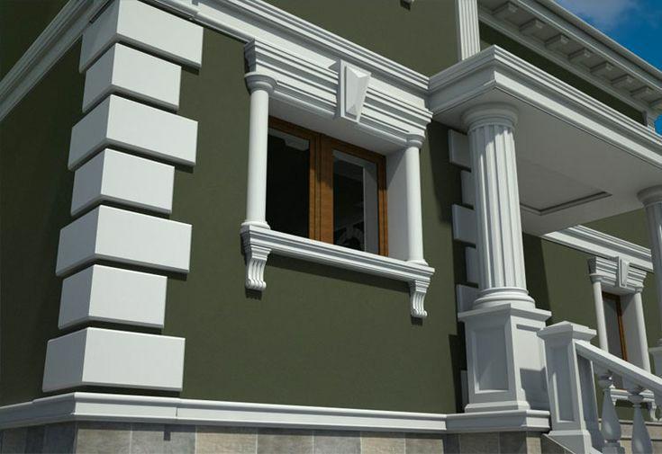 Декор для фасада армированный пенопласт обрамление окон карнизы колонны Пилястра угловые элементы - фото 4