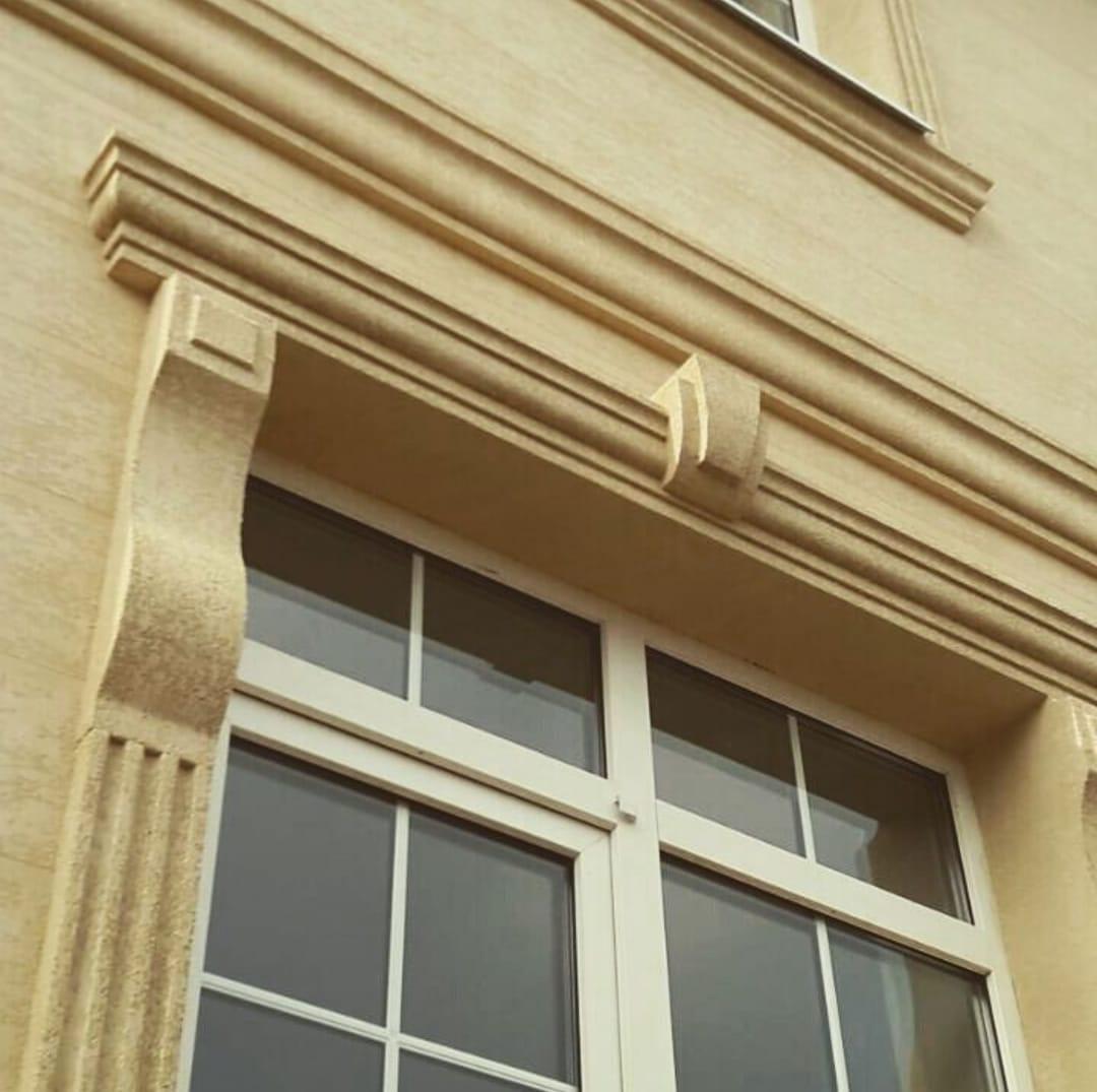 Декор для фасада армированный пенопласт обрамление окон карнизы колонны Пилястра угловые элементы - фото 2