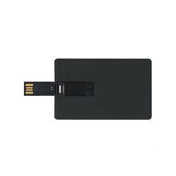Флешка визитка черная 4 гб без нанесения. Бесплатная доставка по Казахстану.