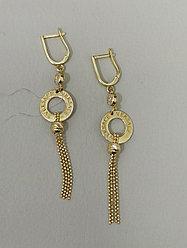 Золотые серьги «Versace»