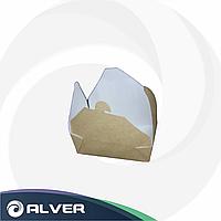 Контейнер крафт Fold Box бумажный 950мл (240шт/кор 40шт/уп)