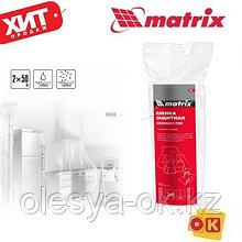 Пленка защитная 2м x 50м 7 мкм, полиэтиленовая в рулоне. MATRIX