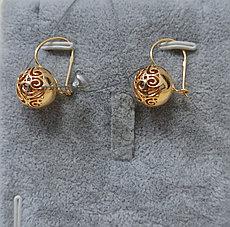 Золотые серьги - шар
