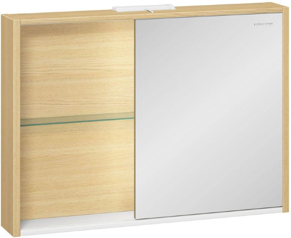 Шкаф зеркальный Уника 100 EDELFORM, белый с дуб гальяно(2-741-45-S)