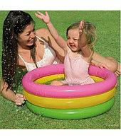 """Детский надувной бассейн """"Радуга"""" 61х22 см, Intex 57107"""