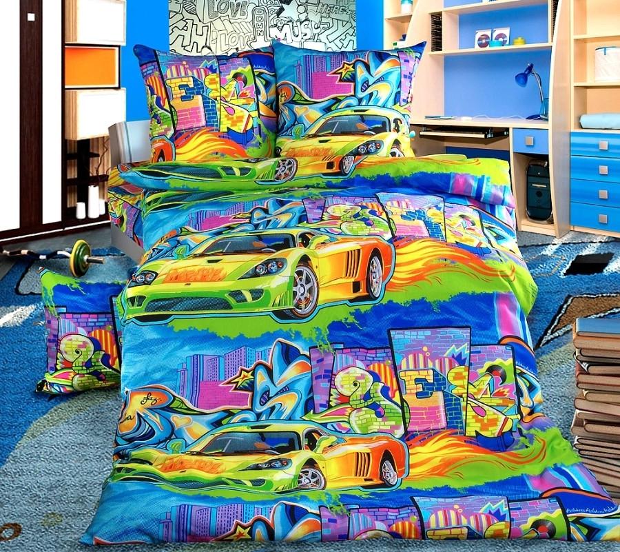 ТексДизайн Комплект постельного белья Граффити, 1.5 спальный , бязь