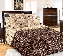 ТексДизайн Комплект постельного белья Вензель 1, 1.5 спальный , бязь