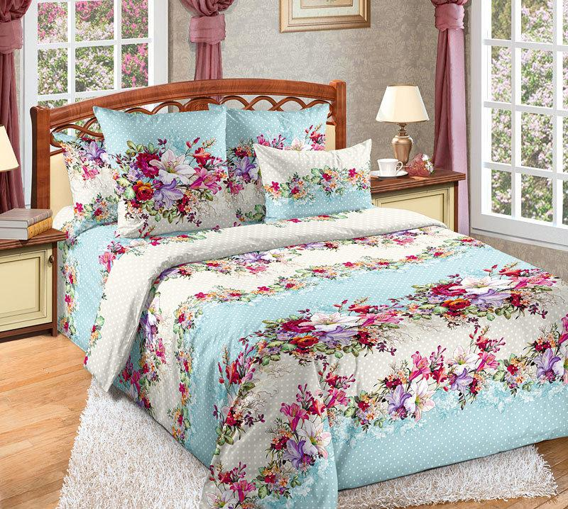 ТексДизайн Комплект постельного белья Кокетка 1, 1.5 спальный , бязь