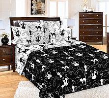 ТексДизайн Комплект постельного белья Котофей, 1.5 спальный , бязь