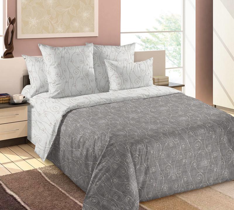 ТексДизайн Комплект постельного белья Изгиб 1, 1.5 спальный , бязь