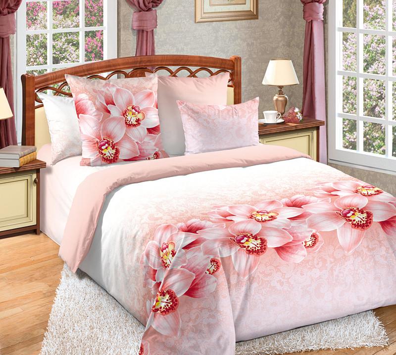 ТексДизайн Комплект постельного белья Аромат орхидей 2, 1.5 спальный , бязь