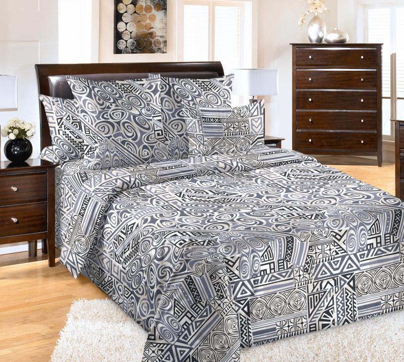 ТексДизайн Комплект постельного белья Масаи 1, 1.5 спальный , бязь