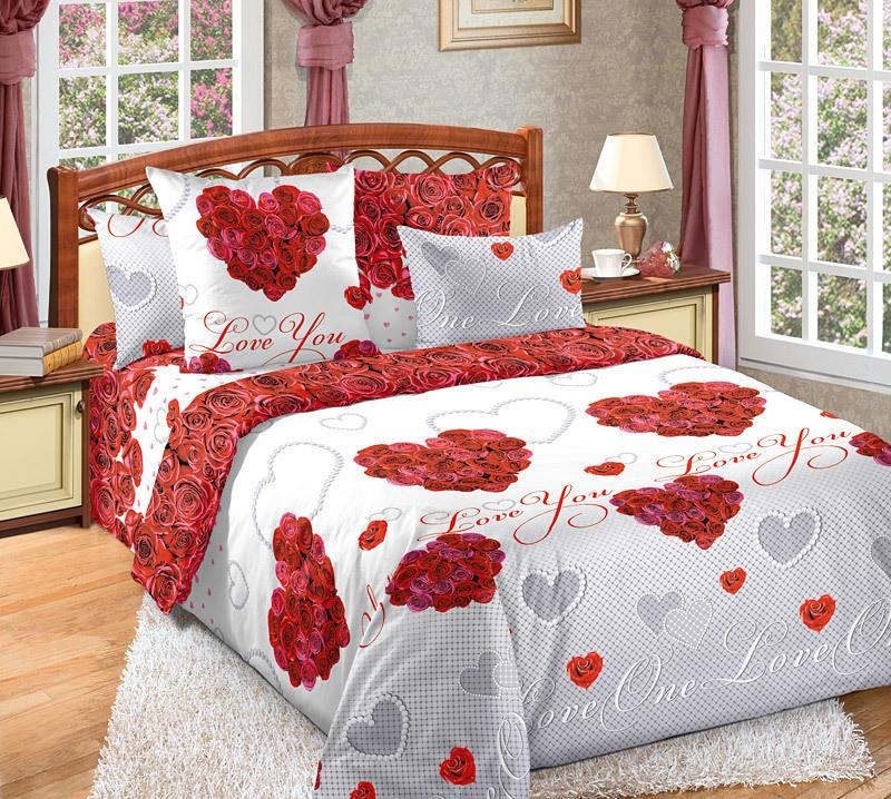 ТексДизайн Комплект постельного белья Вечная любовь 1, 1.5 спальный , бязь